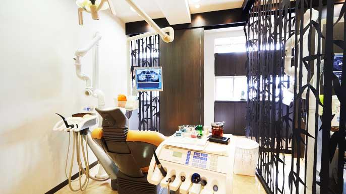 インプラント手術を前に患者の状態を確認してる男性歯科医師